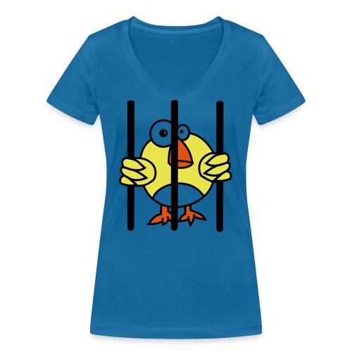 Vögelfrei - Frauen Bio-T-Shirt mit V-Ausschnitt von Stanley & Stella