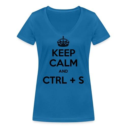 Keep Calm and CTRL+S - T-shirt bio col V Stanley & Stella Femme