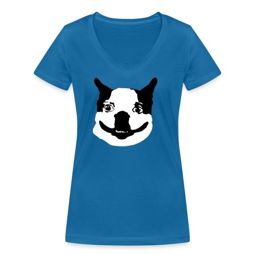 Lennu - Mustavalkoinen - Stanley & Stellan naisten v-aukkoinen luomu-T-paita
