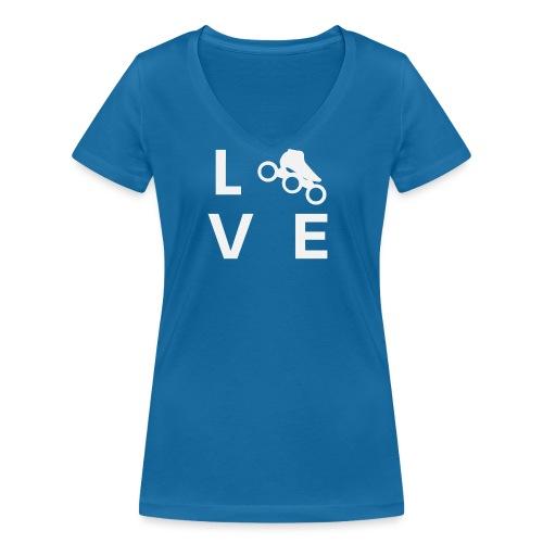 Speedskating Liebe - Frauen Bio-T-Shirt mit V-Ausschnitt von Stanley & Stella
