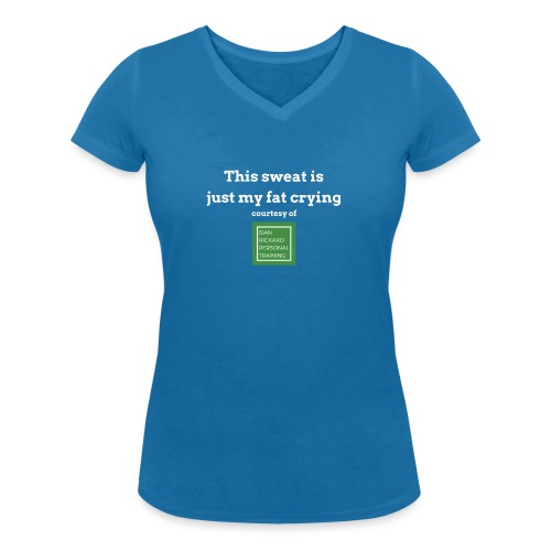 SRPT Fat Crying - Women's Organic V-Neck T-Shirt by Stanley & Stella