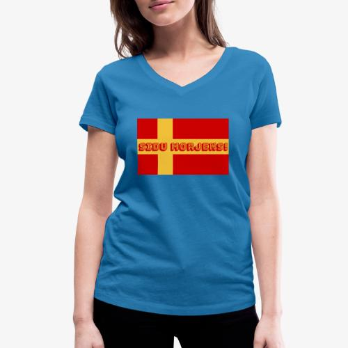 Sidu morjens! flagga - Ekologisk T-shirt med V-ringning dam från Stanley & Stella