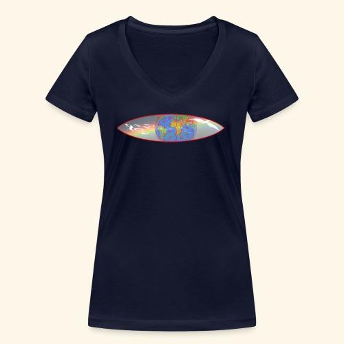 Heal the World - Frauen Bio-T-Shirt mit V-Ausschnitt von Stanley & Stella