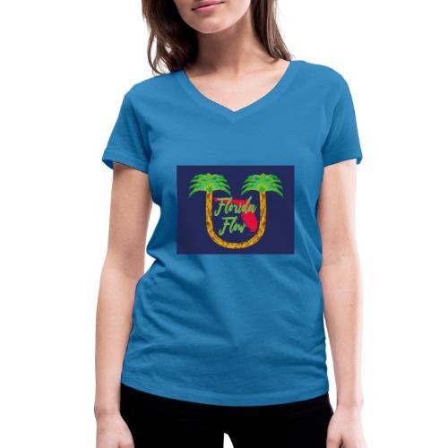 Florida Flow - Ekologisk T-shirt med V-ringning dam från Stanley & Stella