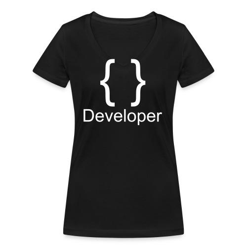 Developer - Frauen Bio-T-Shirt mit V-Ausschnitt von Stanley & Stella