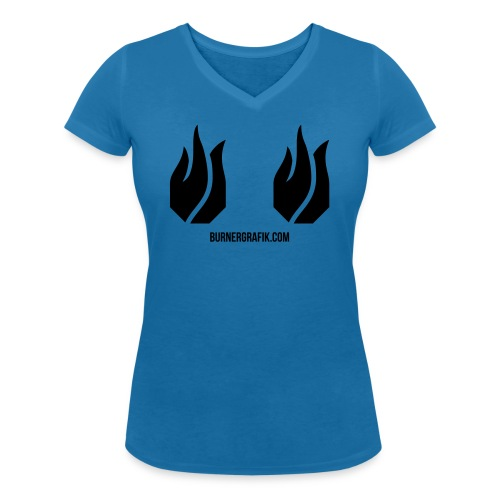 doppel Flamme - Frauen Bio-T-Shirt mit V-Ausschnitt von Stanley & Stella