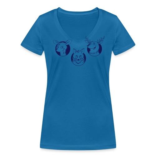 Weidmannsheil - Frauen Bio-T-Shirt mit V-Ausschnitt von Stanley & Stella