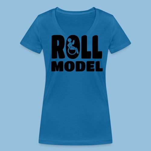 Roll model 016 - Vrouwen bio T-shirt met V-hals van Stanley & Stella