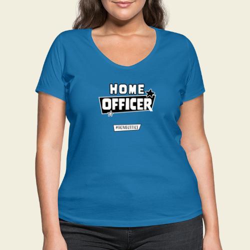 Home Officer - Frauen Bio-T-Shirt mit V-Ausschnitt von Stanley & Stella