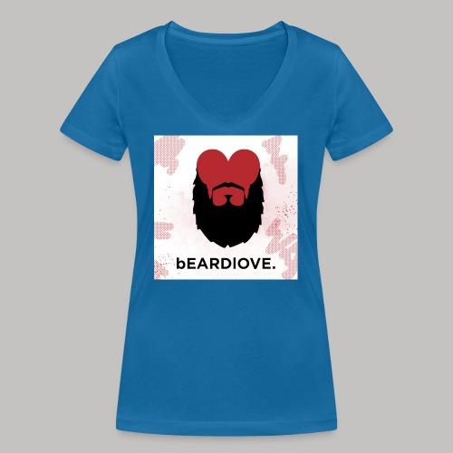 BeardLove - Frauen Bio-T-Shirt mit V-Ausschnitt von Stanley & Stella