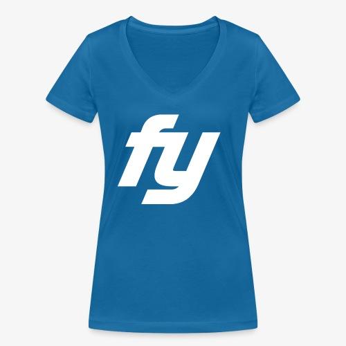 Logo Trendy Weiss - Frauen Bio-T-Shirt mit V-Ausschnitt von Stanley & Stella