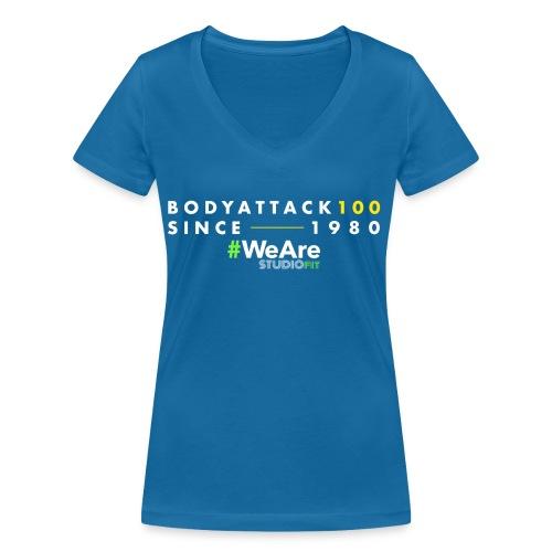 BodyAttack 100 StudioFit Launch Wear - Women's Organic V-Neck T-Shirt by Stanley & Stella