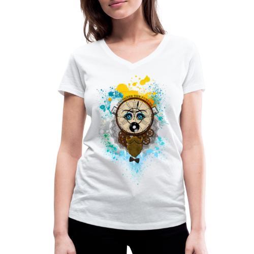 Remember the futur Souviens toi du futur - T-shirt bio col V Stanley & Stella Femme