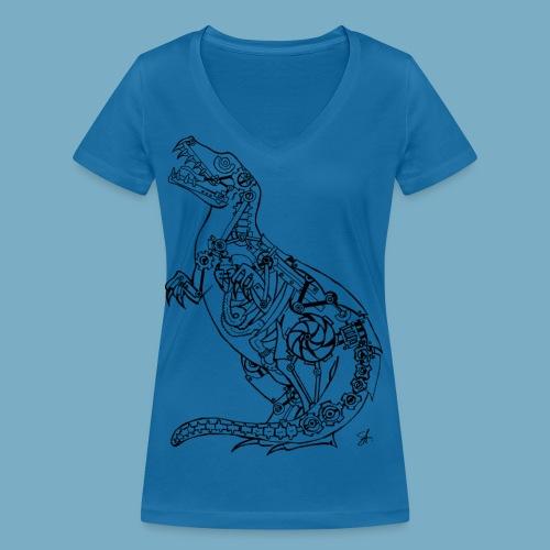 Rex black - Frauen Bio-T-Shirt mit V-Ausschnitt von Stanley & Stella