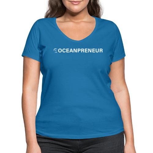 oceanpreneuer white - Frauen Bio-T-Shirt mit V-Ausschnitt von Stanley & Stella