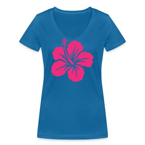 Camisetas, blusas, forros celulares de flor rosada - Camiseta ecológica mujer con cuello de pico de Stanley & Stella