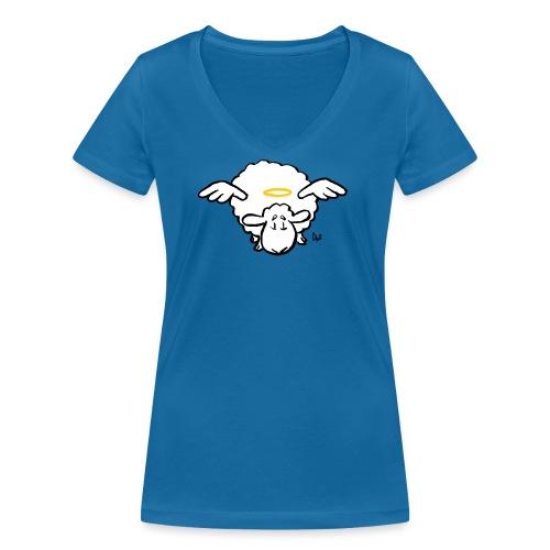 Angel Sheep - Økologisk T-skjorte med V-hals for kvinner fra Stanley & Stella
