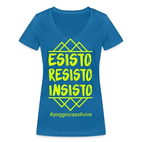 patch resisto - T-shirt ecologica da donna con scollo a V di Stanley & Stella