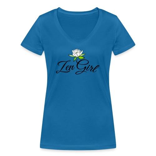 zengirl with lotusflower for purity in life - Ekologisk T-shirt med V-ringning dam från Stanley & Stella