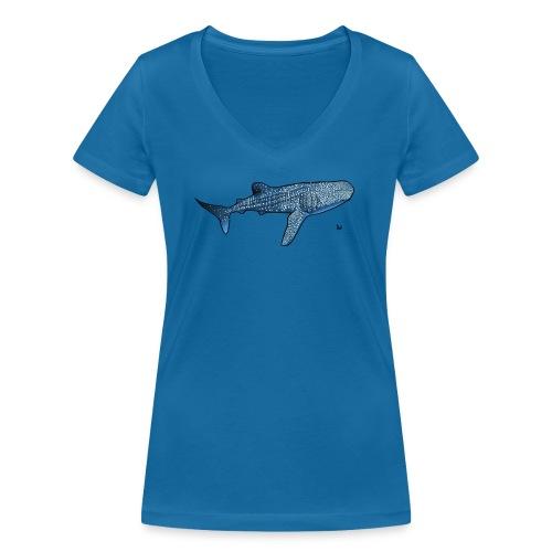 Whale shark - Frauen Bio-T-Shirt mit V-Ausschnitt von Stanley & Stella