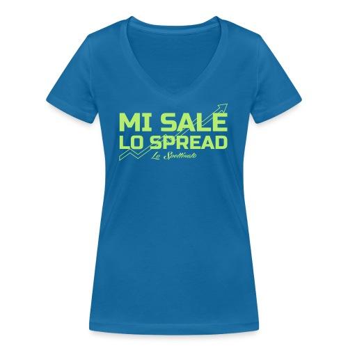 Mi sale lo spread - T-shirt ecologica da donna con scollo a V di Stanley & Stella