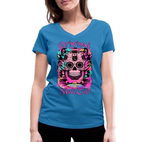 ORIGINAL SKULL CULT PINK - Frauen Bio-T-Shirt mit V-Ausschnitt von Stanley & Stella