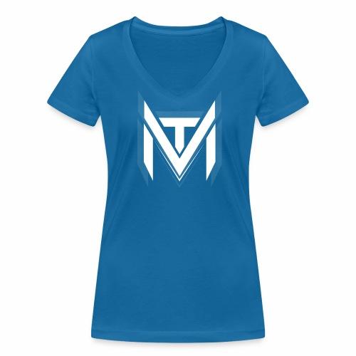 MadVexTV Logo Weiss - Frauen Bio-T-Shirt mit V-Ausschnitt von Stanley & Stella