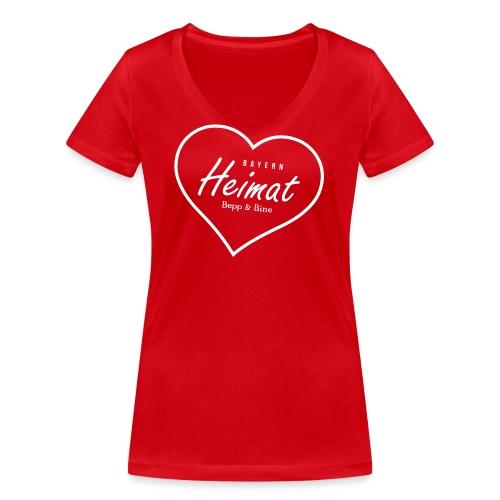 Heimat - Frauen Bio-T-Shirt mit V-Ausschnitt von Stanley & Stella