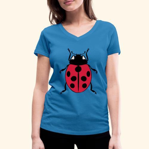 marienkaefer - Frauen Bio-T-Shirt mit V-Ausschnitt von Stanley & Stella
