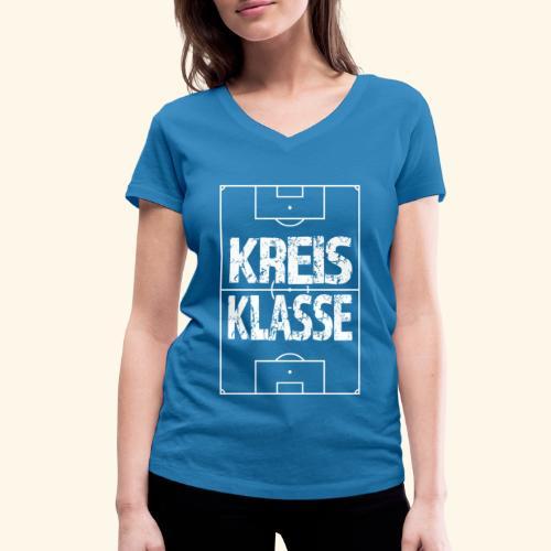 KREISKLASSE im Fußballfeld - Frauen Bio-T-Shirt mit V-Ausschnitt von Stanley & Stella