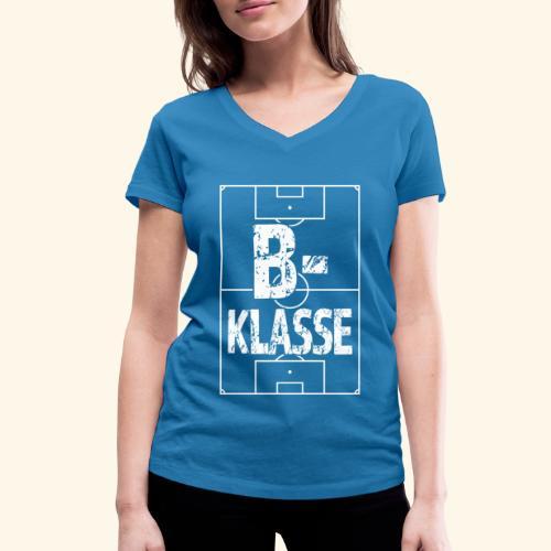B-Klasse im Fußballfeld - Frauen Bio-T-Shirt mit V-Ausschnitt von Stanley & Stella