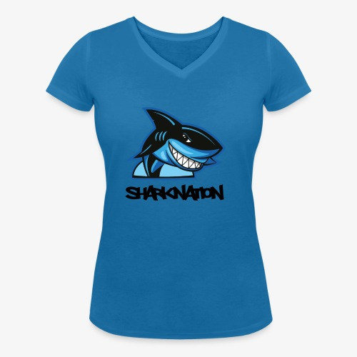 SHARKNATION / Black Letters - Frauen Bio-T-Shirt mit V-Ausschnitt von Stanley & Stella