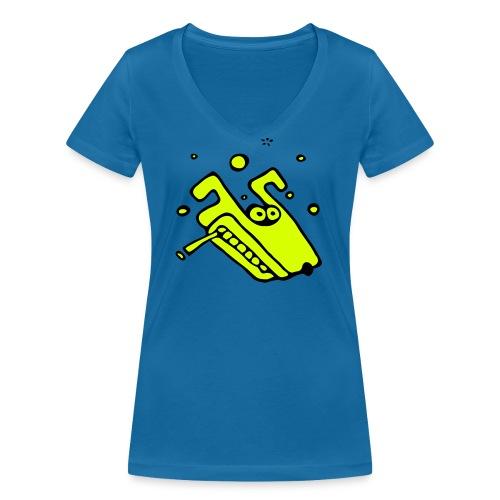 smoking wulf - 2farb - Frauen Bio-T-Shirt mit V-Ausschnitt von Stanley & Stella