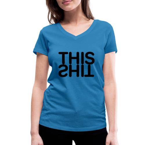 THIS Black - Camiseta ecológica mujer con cuello de pico de Stanley & Stella