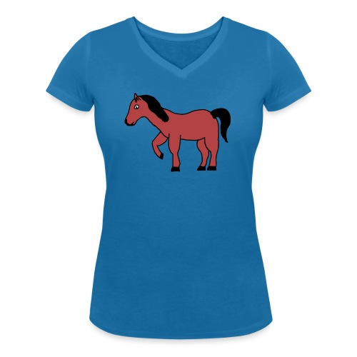 pferd Pony Reiten - Frauen Bio-T-Shirt mit V-Ausschnitt von Stanley & Stella
