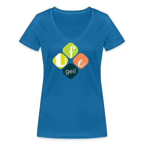 Lifegeil - Frauen Bio-T-Shirt mit V-Ausschnitt von Stanley & Stella