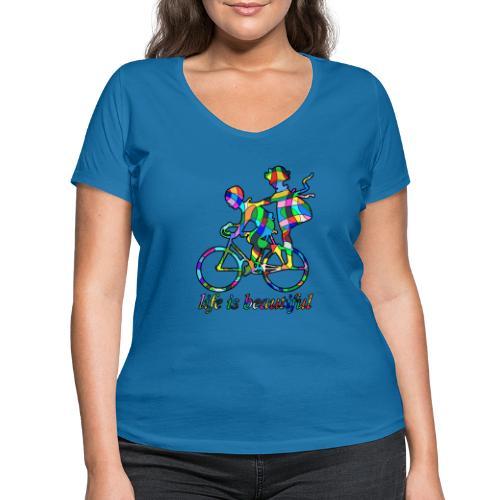 Life is beautiful - Frauen Bio-T-Shirt mit V-Ausschnitt von Stanley & Stella