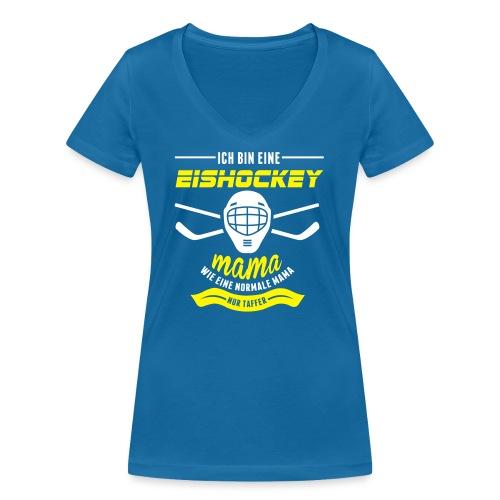 eishockeymama - Frauen Bio-T-Shirt mit V-Ausschnitt von Stanley & Stella