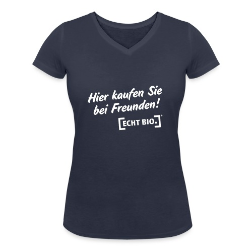 Bei Freunden einkaufen - Frauen Bio-T-Shirt mit V-Ausschnitt von Stanley & Stella