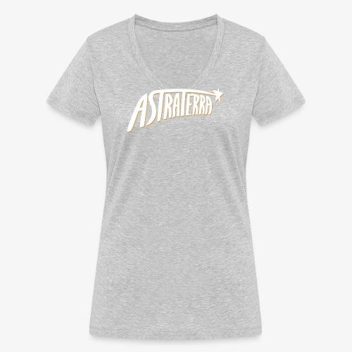 astra logo big 2 - Stanley & Stellan naisten v-aukkoinen luomu-T-paita