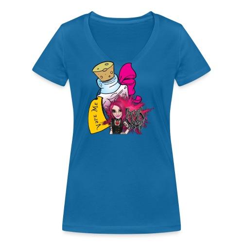 Vape Me - T-shirt ecologica da donna con scollo a V di Stanley & Stella