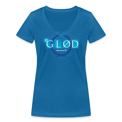 Logo_glod - Økologisk T-skjorte med V-hals for kvinner fra Stanley & Stella