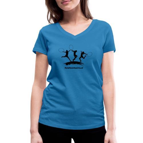Jumping Shadow Black - Frauen Bio-T-Shirt mit V-Ausschnitt von Stanley & Stella