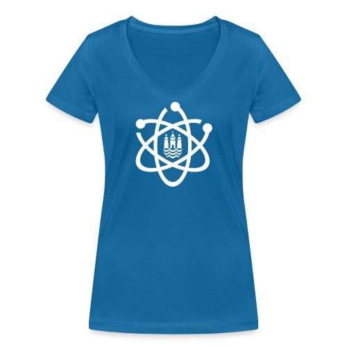 March for Science København logo - Women's Organic V-Neck T-Shirt by Stanley & Stella