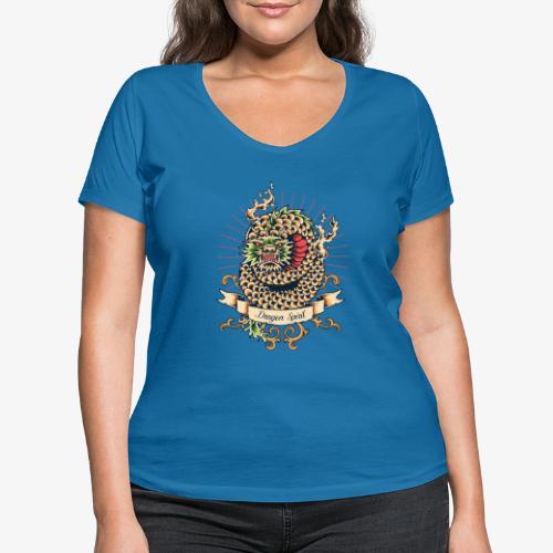 Esprit de dragon - T-shirt bio col V Stanley & Stella Femme