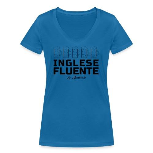 Inglese fluente - T-shirt ecologica da donna con scollo a V di Stanley & Stella