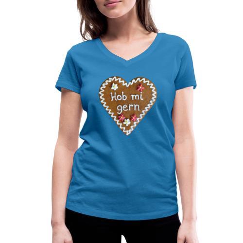 Lebkuchenherz - Frauen Bio-T-Shirt mit V-Ausschnitt von Stanley & Stella