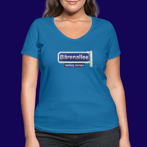 Bärenallee, altes Straßenschild Hamburg - Frauen Bio-T-Shirt mit V-Ausschnitt von Stanley & Stella