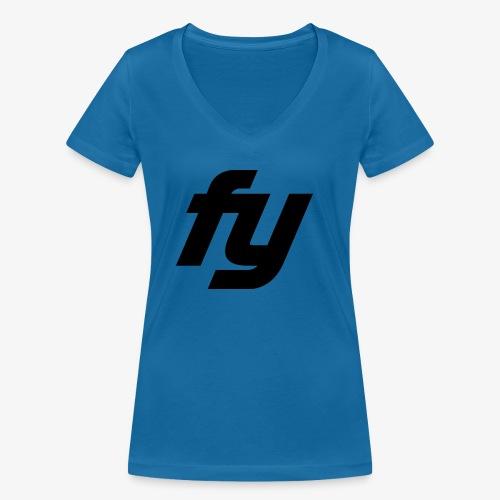 Logo swaggy Schwarz - Frauen Bio-T-Shirt mit V-Ausschnitt von Stanley & Stella