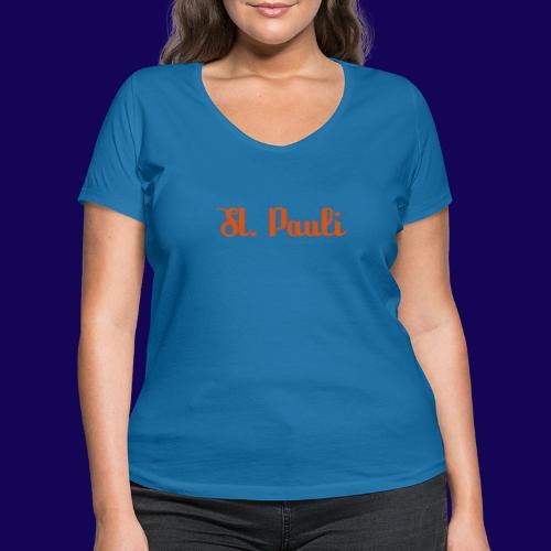 St. Pauli Logotype: Dein Kieztour Begleiter - Frauen Bio-T-Shirt mit V-Ausschnitt von Stanley & Stella